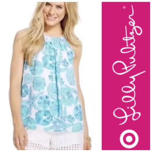 30ffa65375ad68 Lilly Pulitzer for Target Tops - Lilly Pulitzer Target Sea Urchin Halter Top